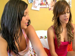 Two hot adorable ass chicks sucking team a few arrogantly learn of with passion
